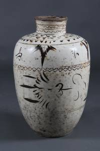 "Large ""Cizhou"" stoneware wine jar, China, Sung/Yuan, 13/14th century"
