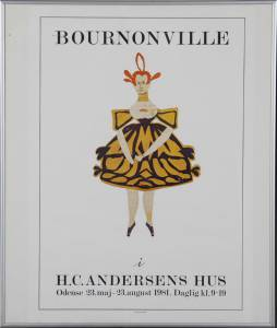 Plakat: Bournonville i H. C. Andersens hus Odense Maj-August 1981