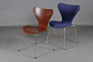 Arne Jacobsen (1902-1971) for Fritz Hansen, seks stole model 3107