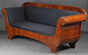 Empire sofa, mahogni
