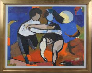 William Hansen (1908-1991): Dansende figurer