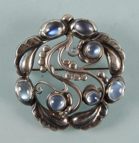 Georg Jensen: Moonlight Blossom broche