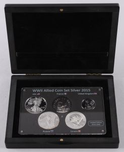 Hele Verden – WWII Allied Nations Coin Set Silver 2015 ►