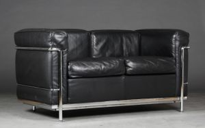 Le Corbusier (1887-1965): To-personers sofa, model LC3