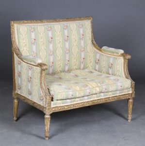 To-personers sofa i Louis XVI form, 19. årh.