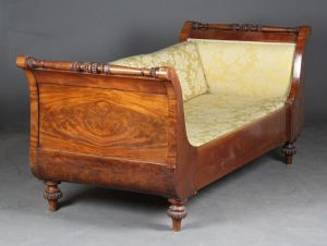 Mahognisofa/daybed, 19. årh