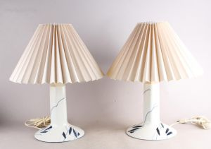 "Anne Marie Trolle for Royal Copenhagen: Et par bordlamper ""Luciana"" (2)"