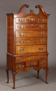 Highboy af mahogni, Taylor Jamestown New York