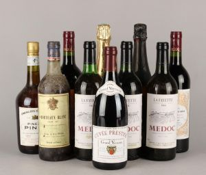 Diverse vine: Medoc, Bordeaux mm. (10)