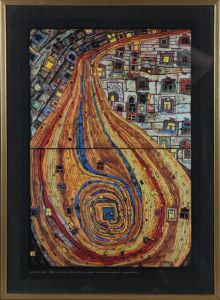 Hundertwasser: Udstillingsplakat 'The End of the Road'