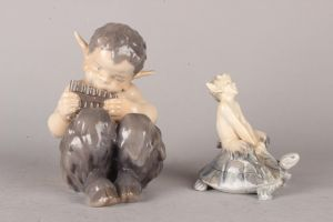 Royal Copenhagen: Faun figurer (2)