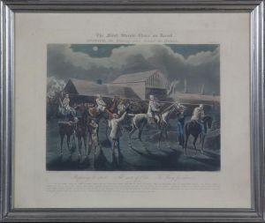 "J. Harris (ca. 1791-1873) efter H. Alken: ""The first Steeple Chase on record""  Plate 1"