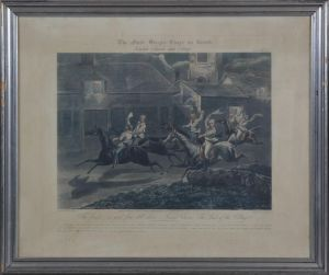 "J. Harris (ca. 1791-1873) efter H. Alken: ""The first Steeple Chase on record""  plate IV"