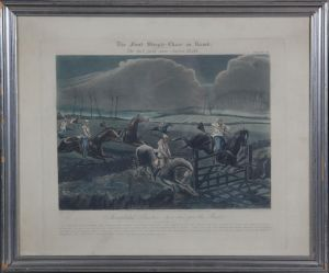 "J. Harris (ca. 1791-1873) efter H. Alken: ""The first Steeple Chase on record""  Plate III"