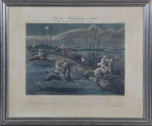 "J. Harris (ca. 1791-1873) efter H. Alken: ""The first Steeple Chase on record""  Plate II"