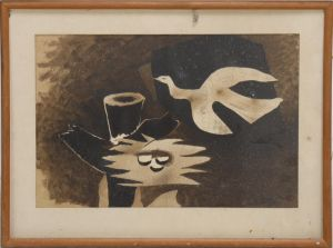 Georges Braque (1882-1963): Pibe og due