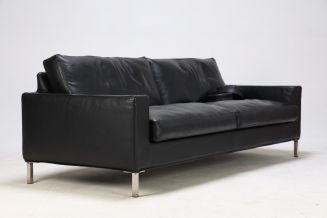 Eilersen sofa sort læder, model Streamline