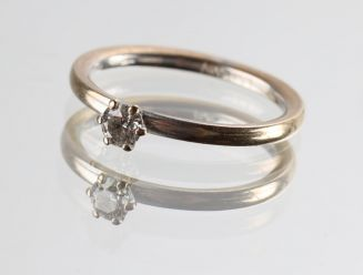 "A. Halberstadt: Solitaire ring med diamant ""My Dream"""