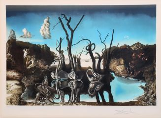 Salvador Dalí (1904-1989): Swans Reflecting Elephants